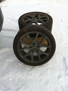 """MazdaSpeed Wheels and Tires 18"""" 5x114.3 235/40R18"""
