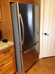 Kitchen Aid Stainless Steel Bottom Freezer Fridge