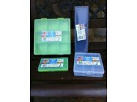 NEW Organiser storage boxes for fishing, screws, DIY, stationary