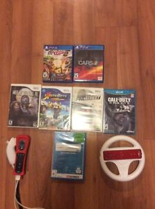 2 ps4 games rest of stuff is wii/wii u