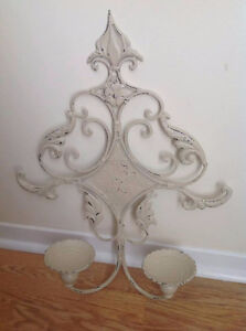 Metal Wall Art & Candle Holder