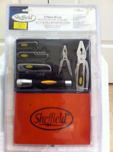 Brand New Sheffield Multifunction Tool Kit, 6 pieces