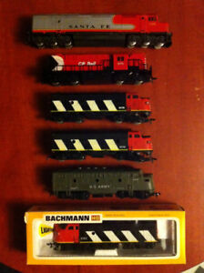 Assorted HO Scale Locomotives