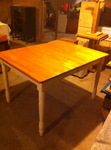 """38"""" BY 48"""" TABLE, SOLID WOOD TOP"""