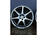 """18"""" alloy wheels wolfrace 5x100 pcd fit polo golf ect"""