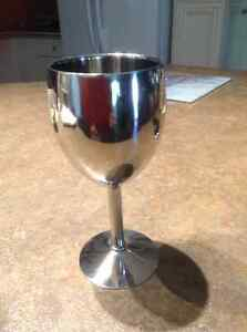 Paderno Stainless Steel Wine Goblets