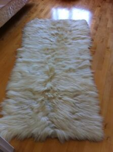 Real goat skin carpet
