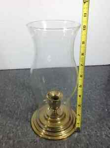 The Connoiseur Collection brass hurricane candle holder Cambridge Kitchener Area image 3