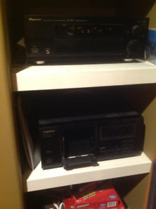 Pioneer Receiver and Multi CD Player
