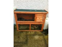 Integral rabbit or guinea pig hutch /run for sale
