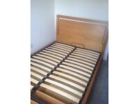 Solid wood ottoman king size bed
