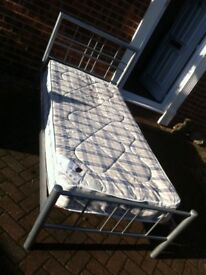 SINGLE 3FT BED AND MATTRESS