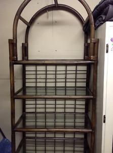 5 shelf rattan unit