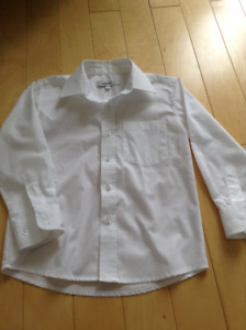 Worn once George boys white dress shirt size 6