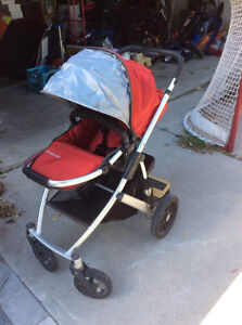 Uppababy Vista Stroller -mint condition; tons of accessories Peterborough Peterborough Area image 1