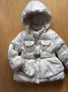 GEOX girls cream down filled jacked size 24 mths
