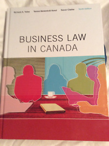 NAIT BUS2205 - Business Law In Canada Textbook