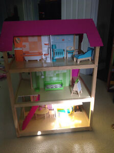 Kidkraft doll house with furniture
