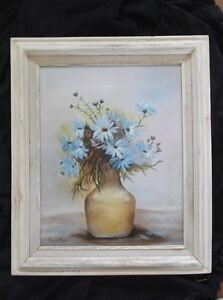 Appealing oil on canvas Art painting Daisies superbly framed