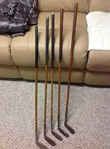 ANTIQUE WOODEN SHAFT PUTTERS
