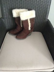 Brand New Faux Suede Boots, never worn. Size 6. Asking $20.