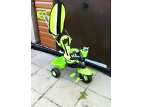 Boy 4 in 1 trike bicycle , green in colour in great condition