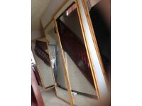 Long Wardrobe mirror only sliding doors mirror 2 parts very good condition £35