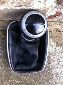 Vw golf mk4 r32/r black leather gear knob and gaitor