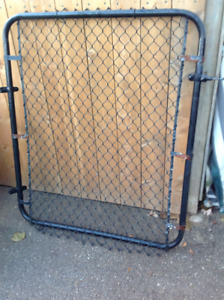 Chain Link Gate only - 46 Inch Tall X 46 Inch Wide - Black