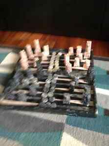 Solid marble chess and backgammon set Kingston Kingston Area image 1