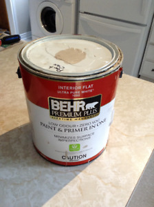 1/2 can Beige latex paint
