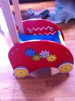 Small wooden cart toy