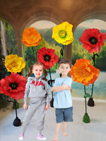 *Giant Free-Standing Flowers * Unique Handmade Flowers*