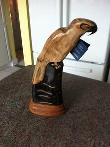 Hand carved buffalo horn.
