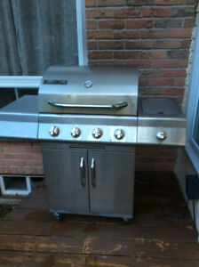 Stainless steel natural gas BBQ, office desk, TV stand