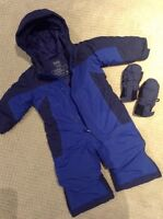 LL Bean 6-12 month snowsuit with mittens