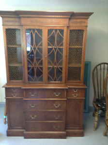 Antique Bookcase with Drop down Secretary Desk