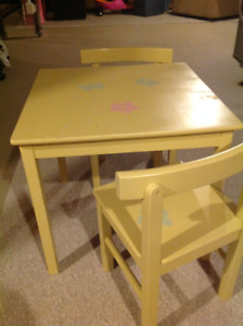 Child's table and chair set