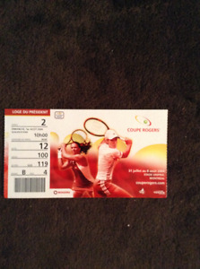 Tennis tickets from Toronto & Montreal