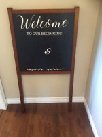 Wooden Welcome Sign for Weddings or Special Events