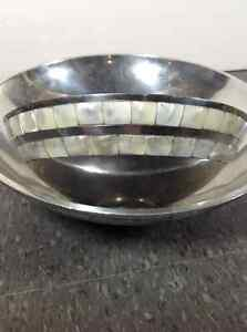 2 metal decorative bowls with shell inlay Cambridge Kitchener Area image 2