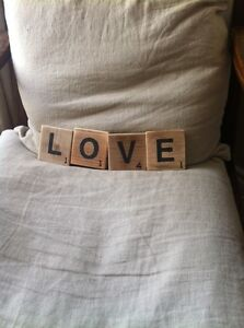 Large Wooden Decor Scrabble Tiles
