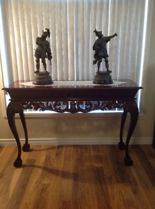 Carved Mahogany Hall Table