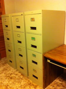 4 Four Drawer Letter File Cabinets