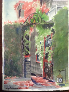 Kay Patterson Painting (Lew Pollocks House Rockport)
