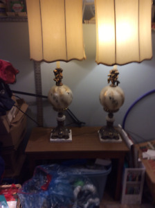 Antique Cherub Lamps