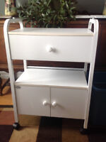 Manicure table with hydraulic chair and waxing cupboard