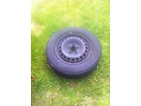 Vw transporter steel wheels and tyres