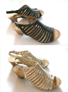 SIZE 10M,  BEAUTIFUL  MID-HEEL,  ALL LEATHER  SANDALS