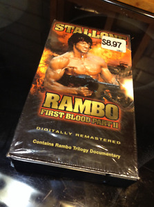 Rambo - First Blood Pt. 2 VHS with trilogy documentary HTF